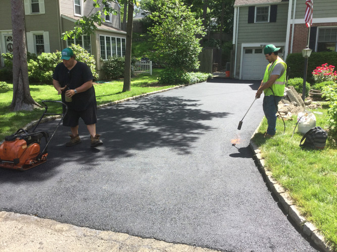 Our guys finishing this driveway