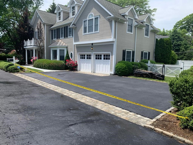 Driveway Finished. Sound Beach, Old Greenwich, CT.