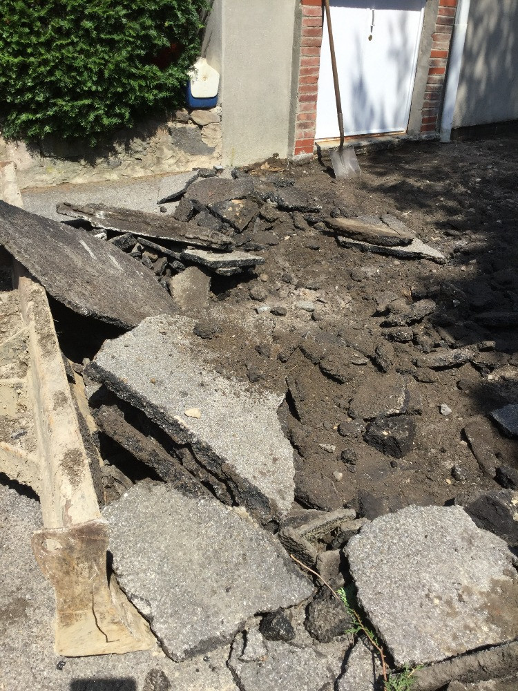 Excavation and Demolition Old Asphalt.