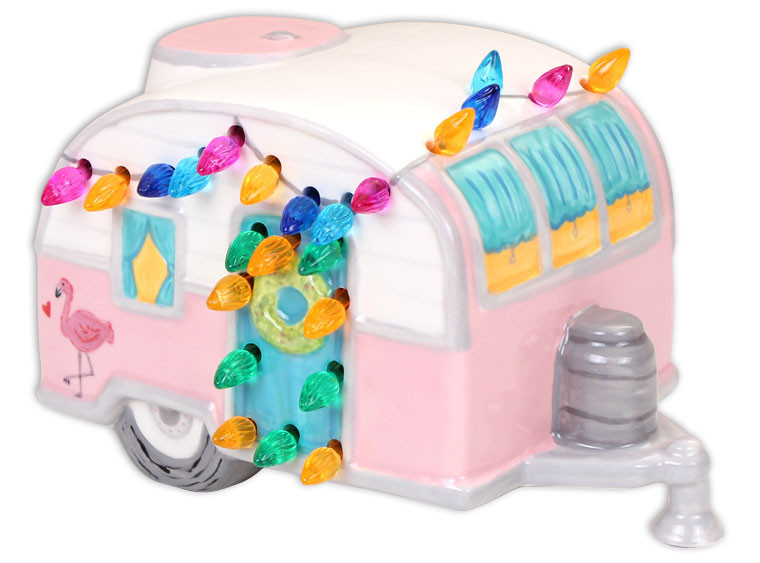 Lighted Christmas Camper $55