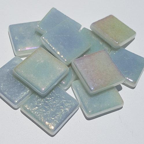 1 lb. Iridized Pearl White Tiles