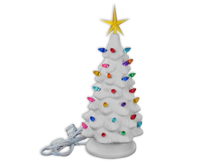 Medium Lighted Christmas Tree $$55