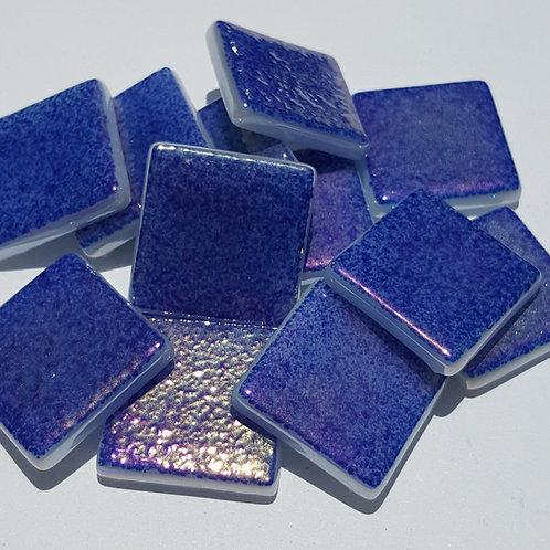 1lb. Iridized Sapphire Blue Tiles