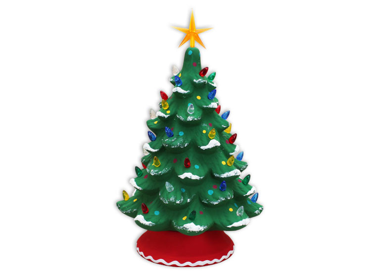 Large Lighted Christmas Tree $65
