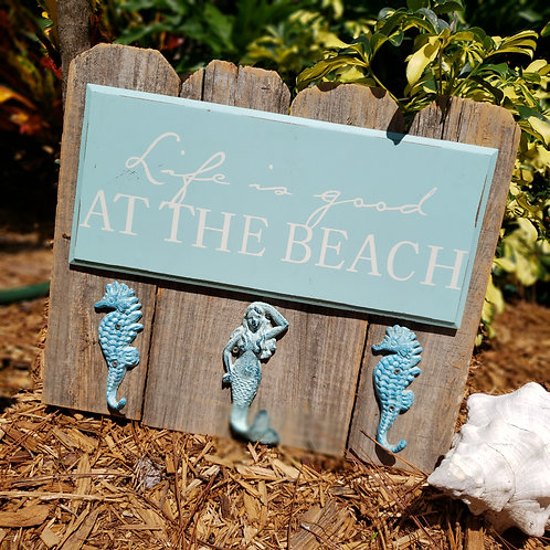 Life is Good at the Beach - Seahorses and Mermaid