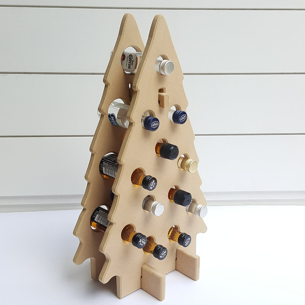 Christmas Tree Mini Liquor Bottle Holder | beachlifemosaics