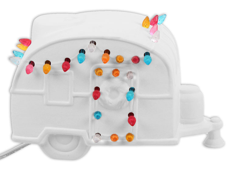 Lighted Christmas Camper $$55
