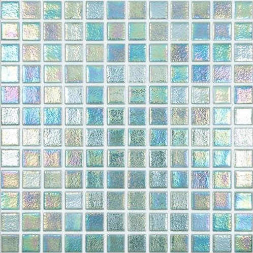 1 lb Iridized Caribbean Blue Tiles