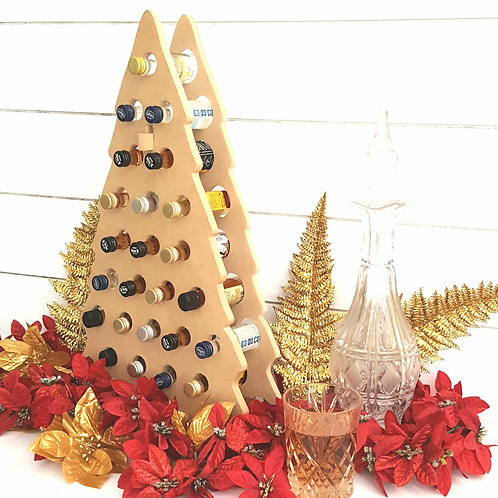 Christmas Tree Mini Liquor / Wine Bottle Advent Calendar