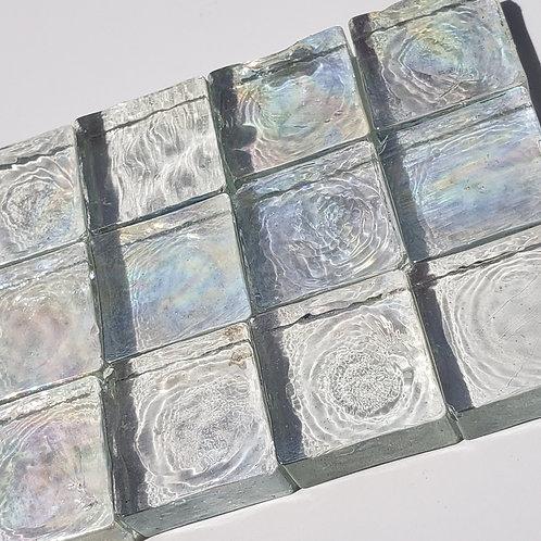 1 lb Iridized Clear Tiles - 20 mm x 8 mm