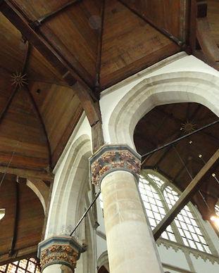 Aanzicht kap kooromgang Oude Kerk Amster