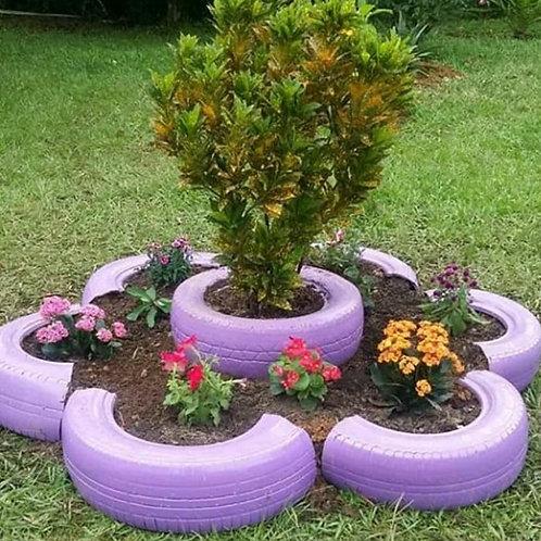 Upcycled Tyre Planter /Garden Eco-Decor