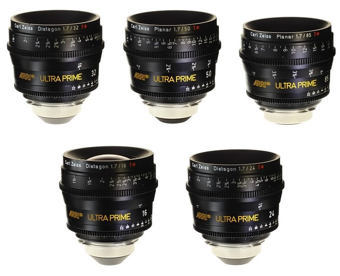 ARRI Zeiss Ultra Prime Lenses Package (PL Mount)