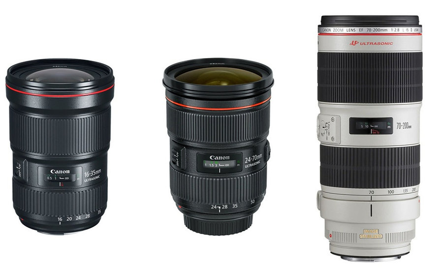 Canon Trinity Lenses Package