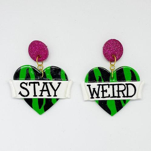 Stay Weird Statement Earrings