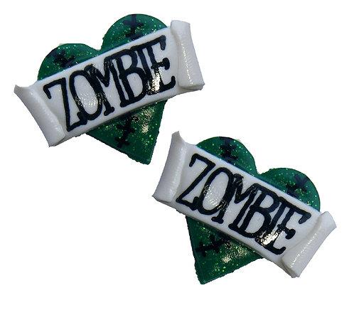 Zombie 2D heart studs