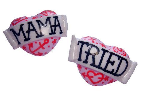 Mama Tried 3D heart studs
