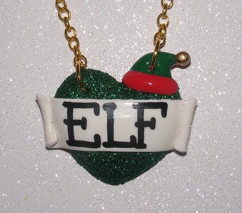 Elf single heart necklace