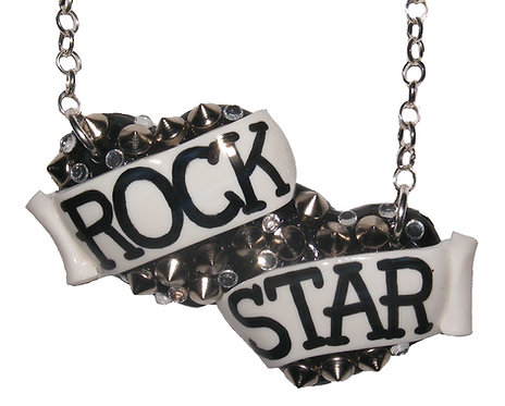 Rock Star large double heart necklace