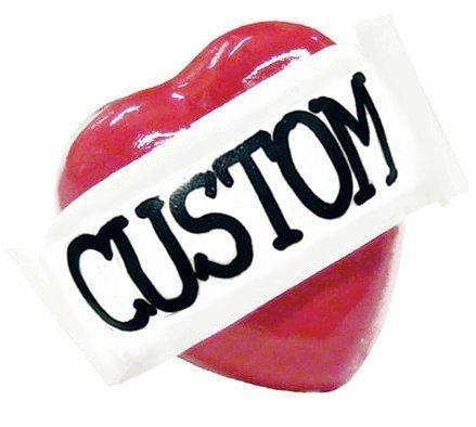 Custom single heart ring