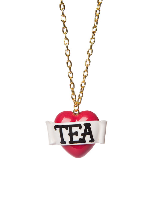 Tea mini single heart necklace