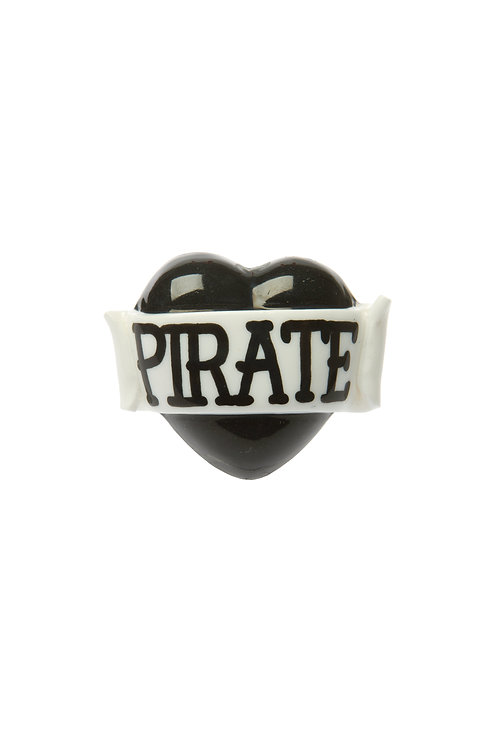 Pirate single heart ring