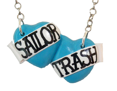 Sailor Trash small double heart necklace