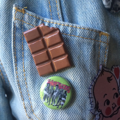 CHOCOLATE BAR BROOCH