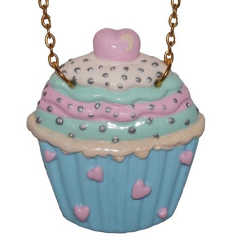 Pastel cupcake necklace