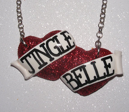 Jingle Belle large double heart necklace