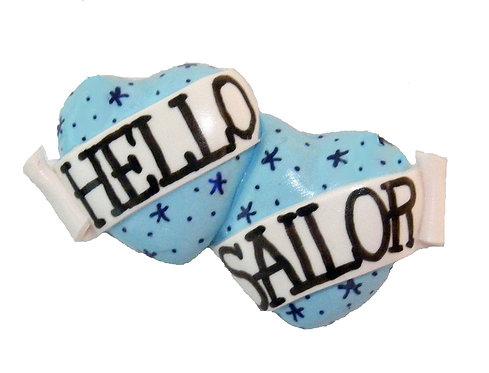 Hello Sailor double heart ring