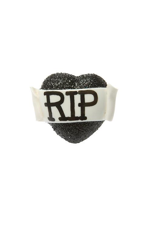 RIP single heart ring