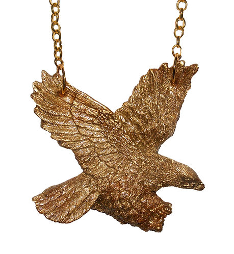Gold eagle necklace
