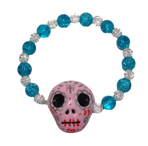 Sugar skull stretch bracelet