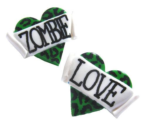 Zombie Love 2D heart studs