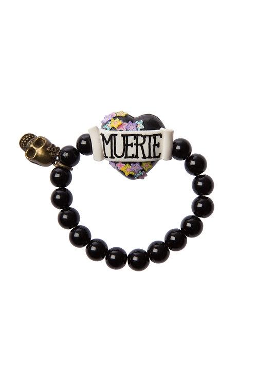 Muerte heart stretch bracelet