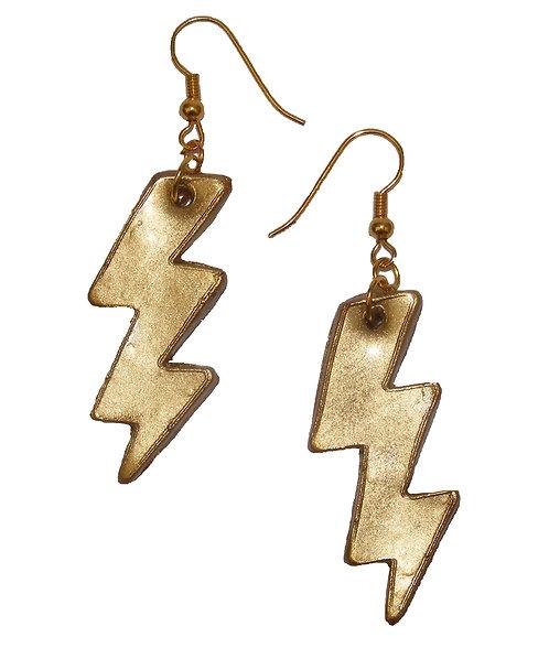 Lightning bolt drop earrings