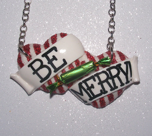 Be Merry! large double heart necklace