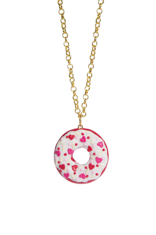 Red Velvet Donut necklace