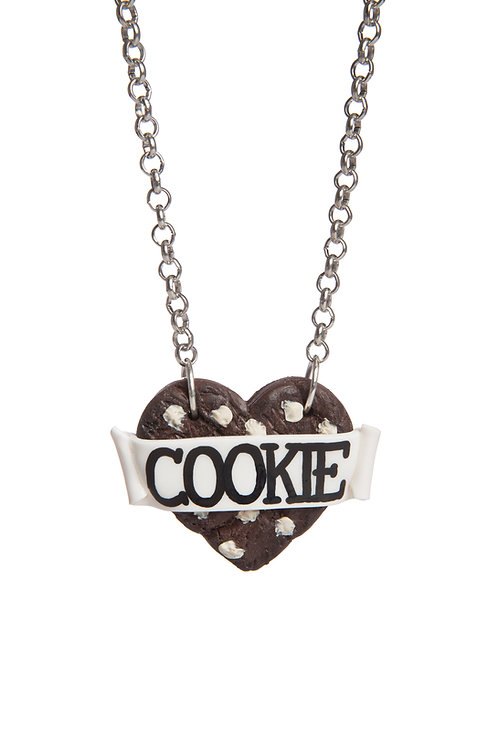 Triple Chocolate Cookie Heart necklace