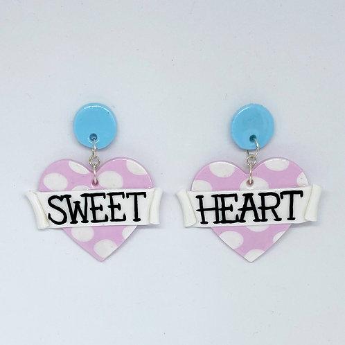 Sweet Heart Statement Earrings