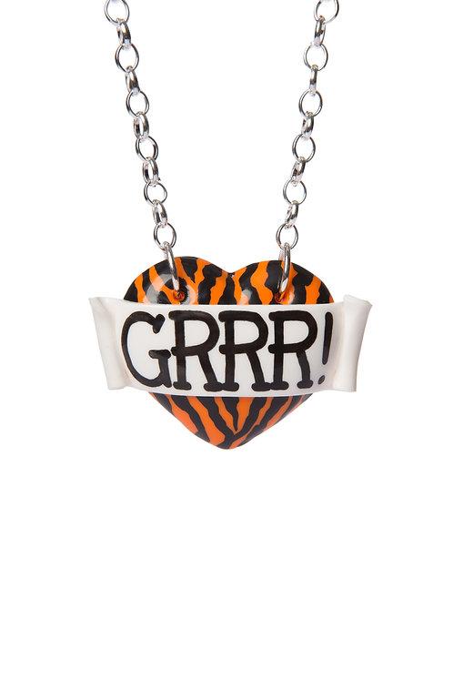 Grrr! single heart necklace