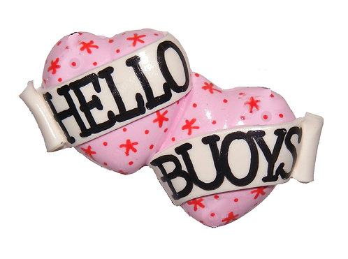 Hello Buoys small double heart barrette