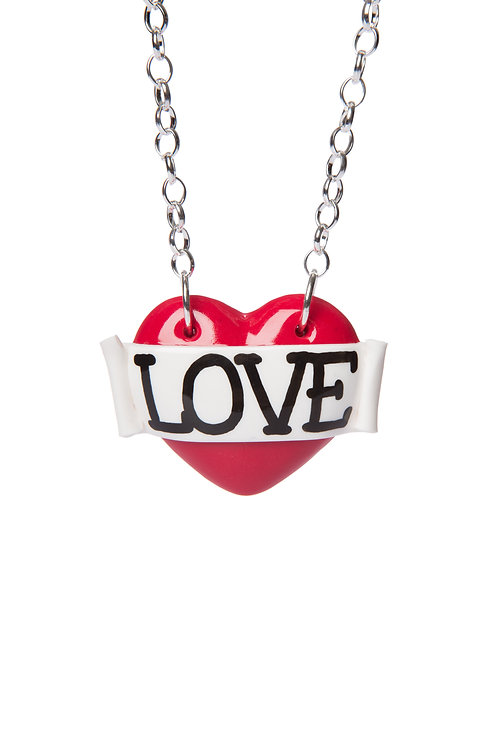 Love single heart necklace