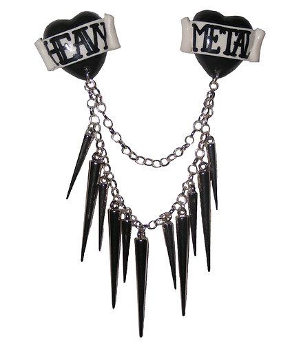 Heavy Metal collar clips