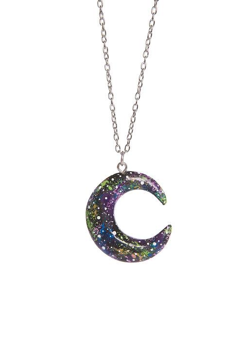 Galaxy print Luna pendant
