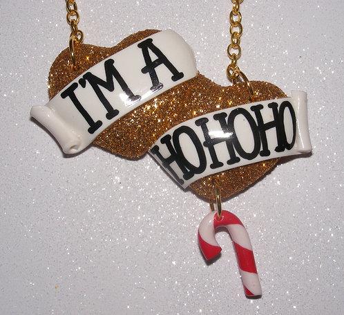 I'm A HoHoHo large double heart necklace