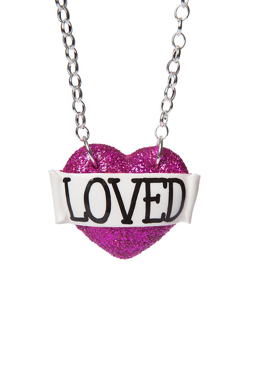 Loved single heart necklace