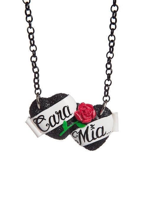 Cara Mia small double heart necklace