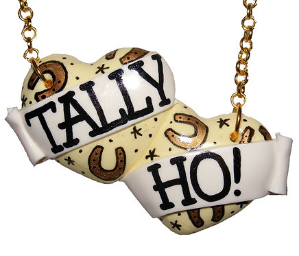 Tally Ho! large double heart necklace